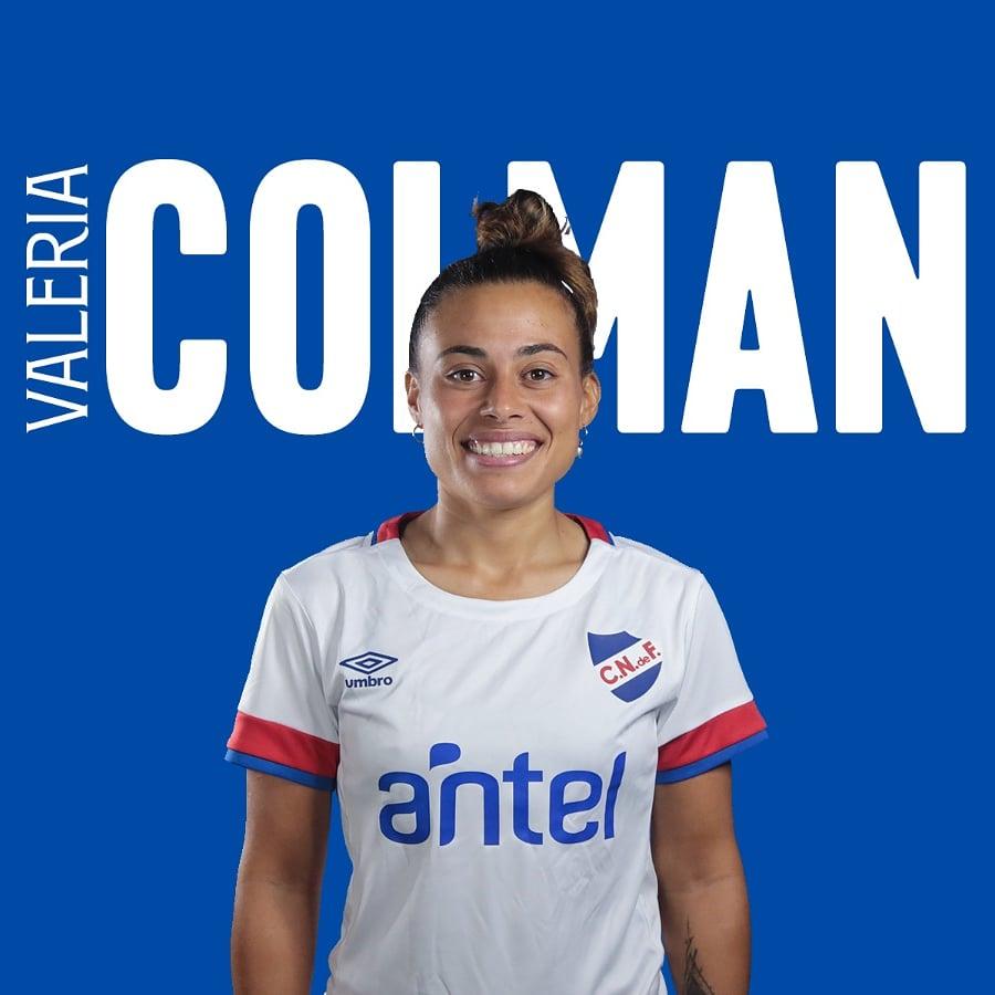 Valeria Colman, capitana del Club Nacional de Football de Uruguay.